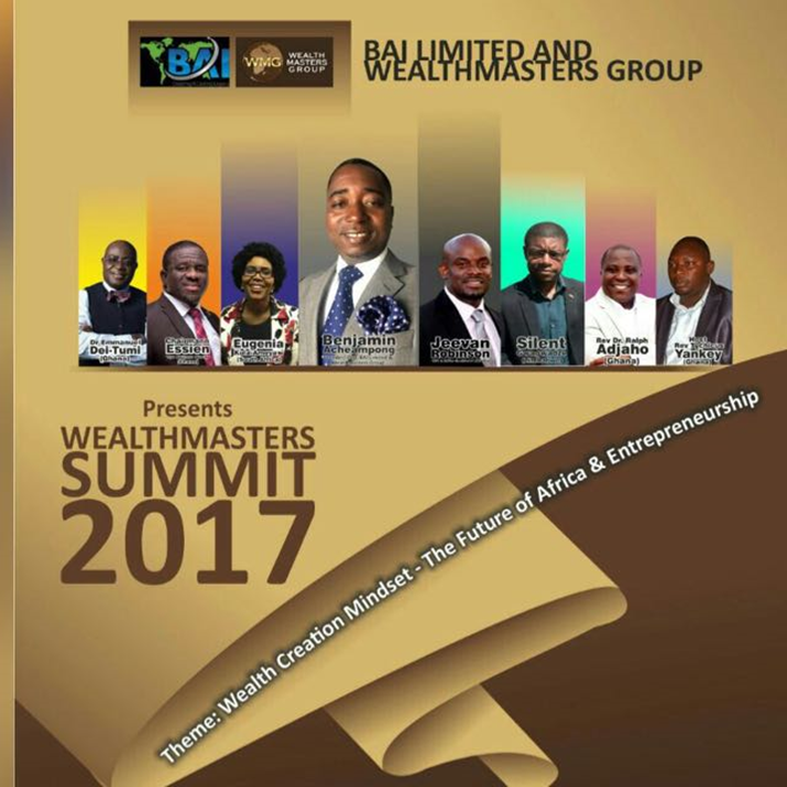 2017 Wealth Masters Summit To Take Place in Ghana, Africa: The Future of Africa and Entrepreneurship