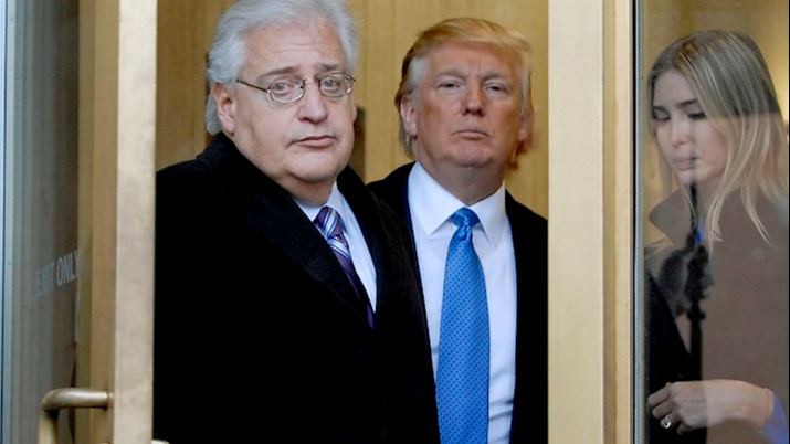 United States Ambassador, David Friedman, Tells State Department to Flout the Law