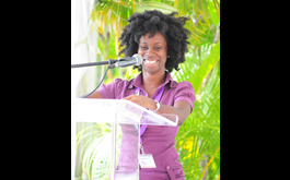 St. Martin, Virgin Islands writers, poolside at Anguilla Lit Fest 2018