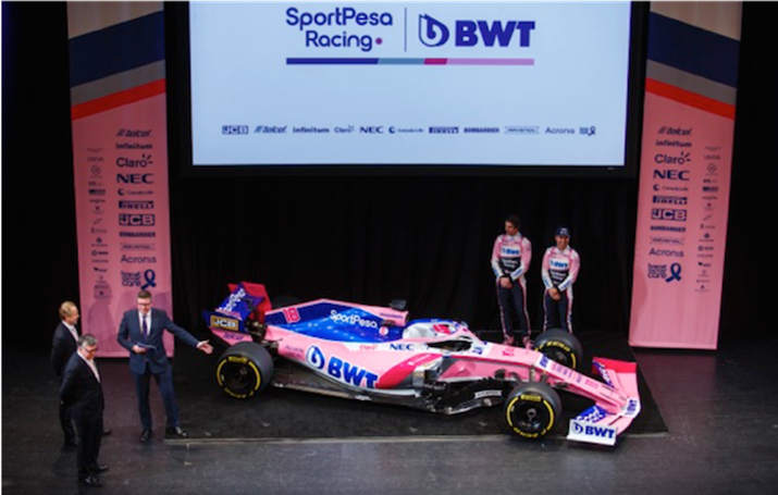Sportpesa Racing Point Formula 1 Team Officially Launches at Canadian International Autoshow