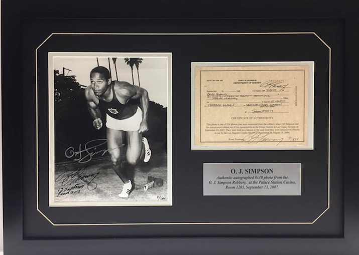 Las Vegas Memorabilia Company Announces Sale of OJ Simpson Collectible Recovered From Former Athlete's Robbery Case