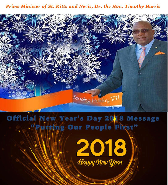 "New Year Message by Dr. the Hon Timothy Harris, Prime Minister of St. Kitts and Nevis: ""Putting Our People First"""
