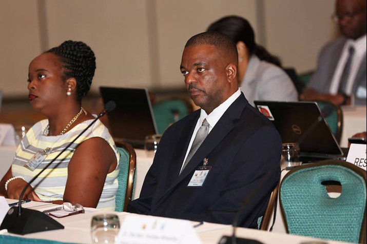 Montserrat's Hon Minister Paul J. Lews and Executive Officer, Michelle Cassell Presently Attending 16th Caribbean Ministerial Strategic ICT Seminar