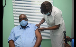Prime Minister Harris Amongst The First To Receive Second Dose Of Vaccine In St. Kitts And Nevis