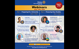 Rotary Club of Montserrat To Host University Preparation and Financing Webinars