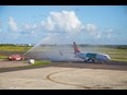 Sunwing Airlines Montreal to Antigua Inaugural Flight Welcomed to Antigua