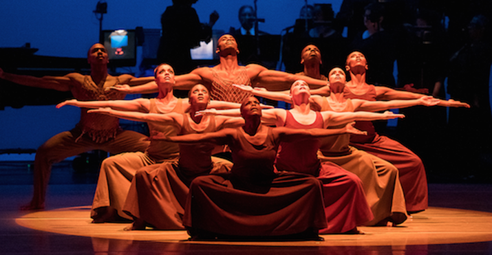 What Goes Around, Comes Around On The Sony Theatre Stage with Alvin Ailey Dancers
