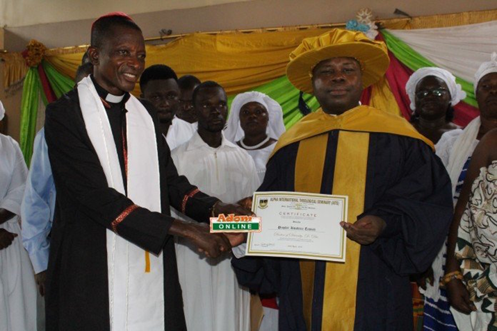 Top US Seminary Confers Honorary Degree on Prophet Kwabena Tawiah Founder and Leader of the Church of Rabbi