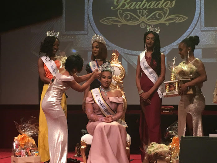 Miss Milan Carrington-Gomes Crowned Miss Barbados UK, 2017