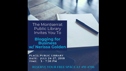 Public Library Offers FREE Blogging for Business Workshop on Montserrat