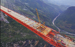 Video: The World's Highest Bridge Opens in China