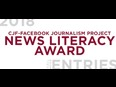 Call for Entries: Canadian Journalism Foundation (CJF) -Facebook Journalism Project News Literacy Award