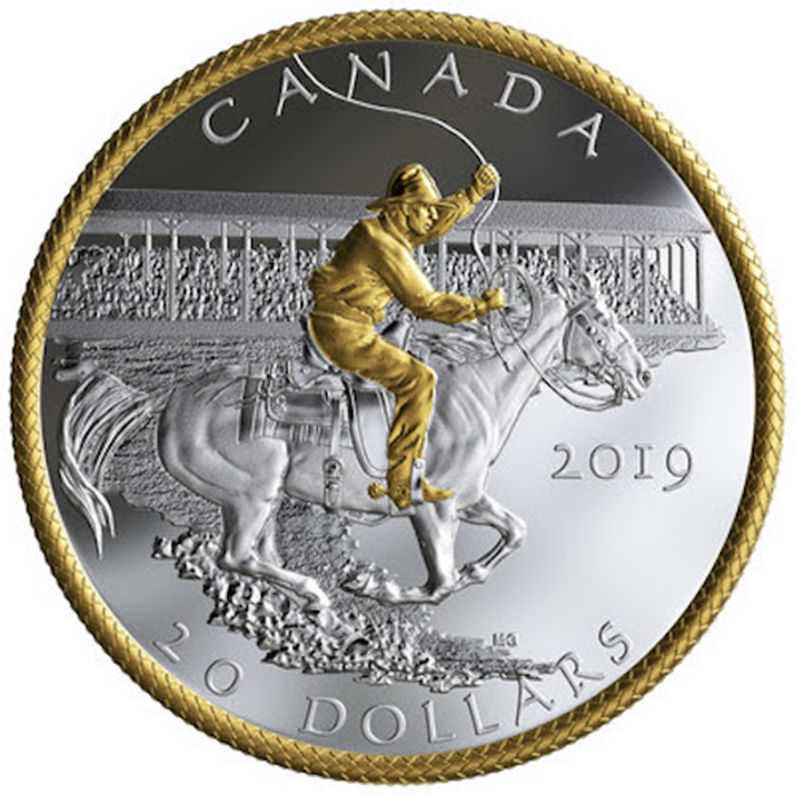 Royal Canadian Mint Issues New Silver Coin Marking the 100th Anniversary of Calgary's Victory Stampede