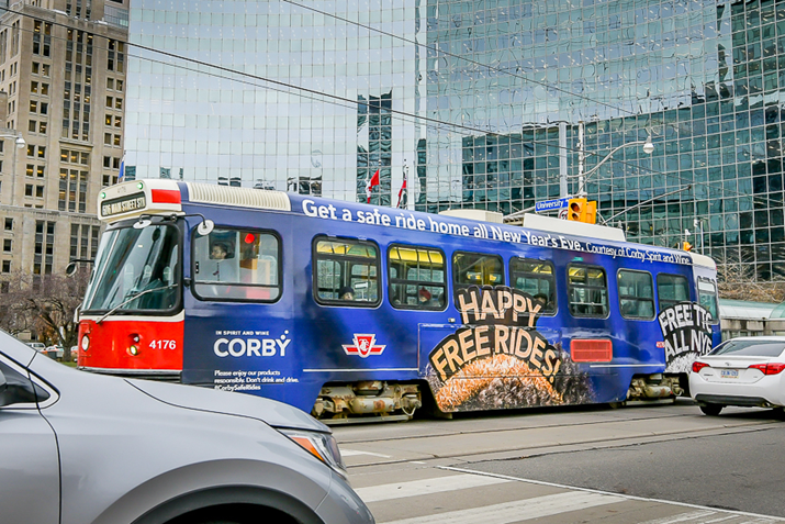 Corby Has Your Safe Ride Home Covered this New Year's Eve – the TTC is free all night!
