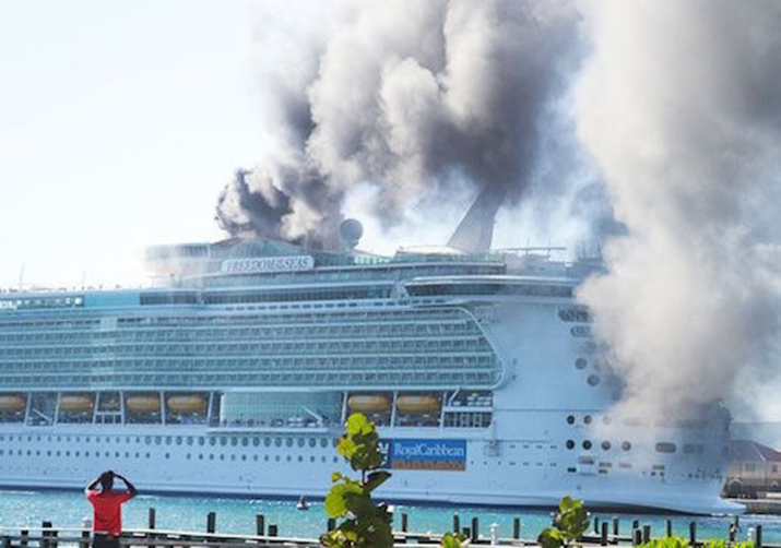 Ship Fire From Vessel Docked In Jamaica Contained By Own Equipment - Is there smoking on cruise ships