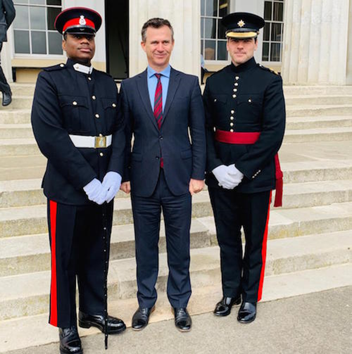 2nd Lieutenant Darion Darroux Successfully Completes Reserve Officer's Commissioning Course at Sandhurst, UK