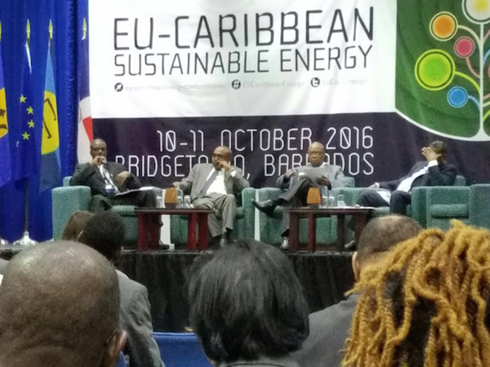 Hon Paul Lewis Received Repeated Applause as Montserrat's Energy Policy Forefront at EU-Caribbean Sustainable Energy Conference