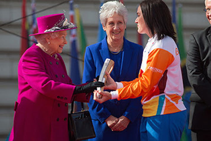 Her Majesty The Queen Queen Elizabeth II Launches Queen's Baton