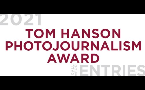 Call for Entries: Tom Hanson Photojournalism Award
