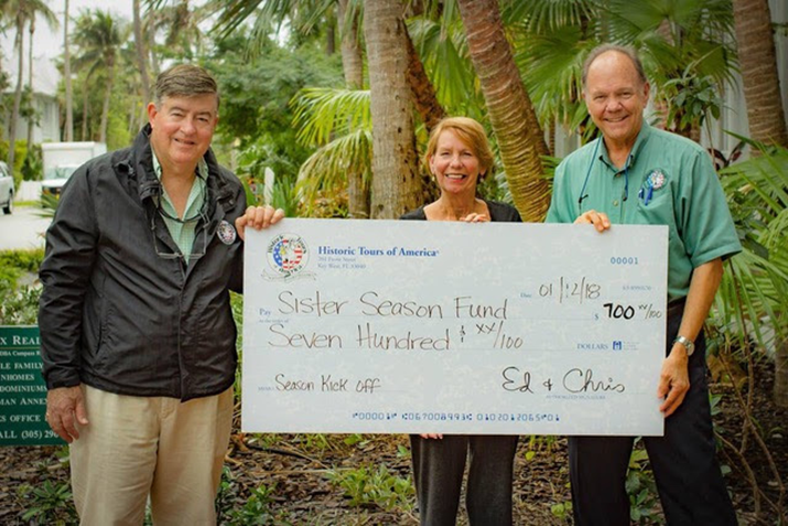 Historic Tours of America Donates To Sister Season Fund To Aid In Hurricane Irma Relief