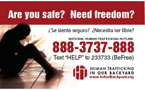 Innovative Outreach Effort Seeks to Combat Human Trafficking