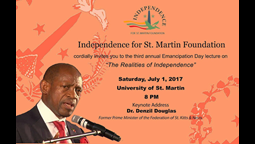 Dr. Denzil Douglas to deliver Emancipation Day Lecture in St. Martin on July 1