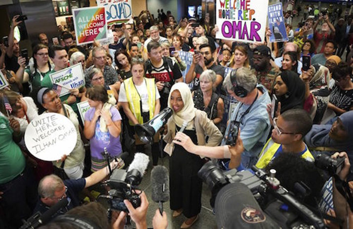 U.S President Trump Disavows 'Send her back!' chant as Omar stands defiant