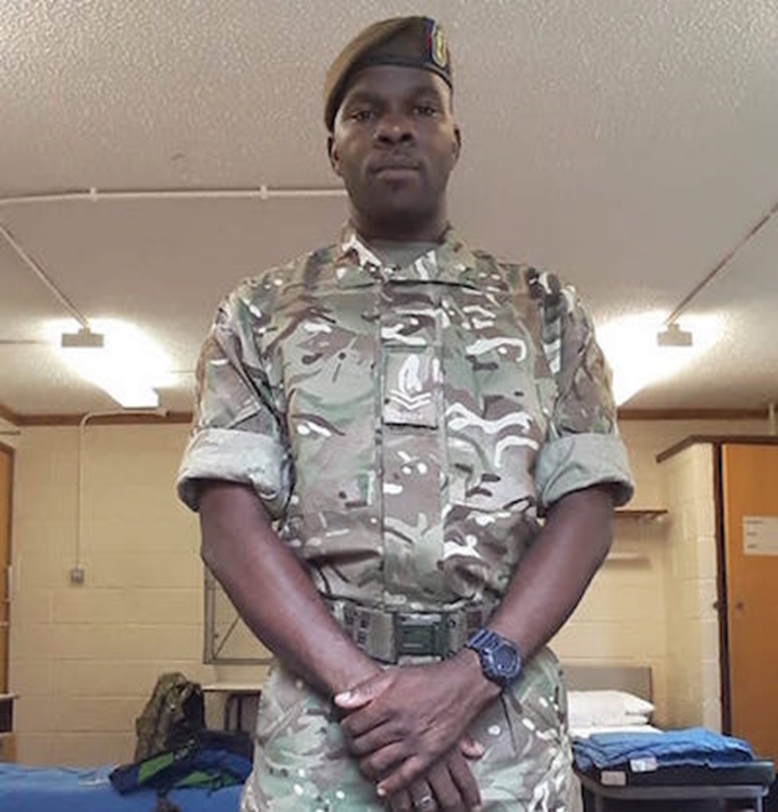 Corporal Melvin Lindsey returns from Platoon Sergeant Battle Course (Reserve) in the UK
