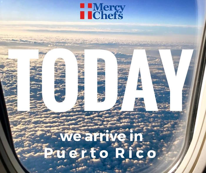 Virginia Based Relief Group, Mercy Chefs Heads to Puerto Rico in Aftermath of Hurricane Maria's Devastation