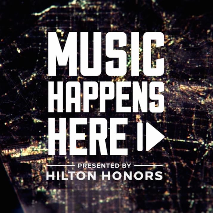 Music Happens Here Launches on Spotify in Partnership with Live Nation, Presented by Hilton Honors