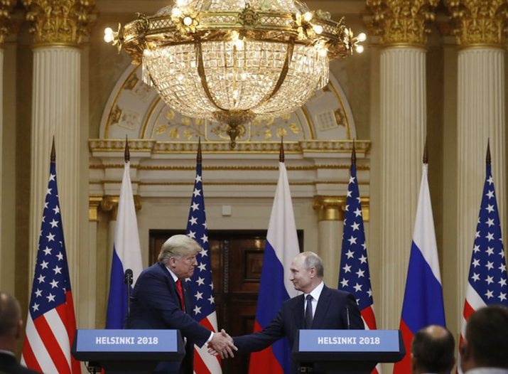 U.S President Trump Questions His Own Intelligence Agencies Standing Next To Russian President Putin