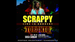 International Award Winning Soca Artist Scrappy Kicks off USA/Canada Tour July 22nd in Toronto