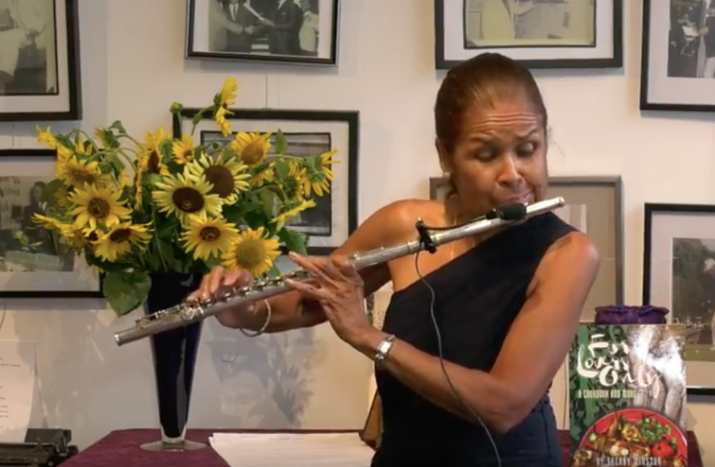 Famed Jazz Flutist and Author Sherry Winston Flouting it on Bathurst Street, Toronto