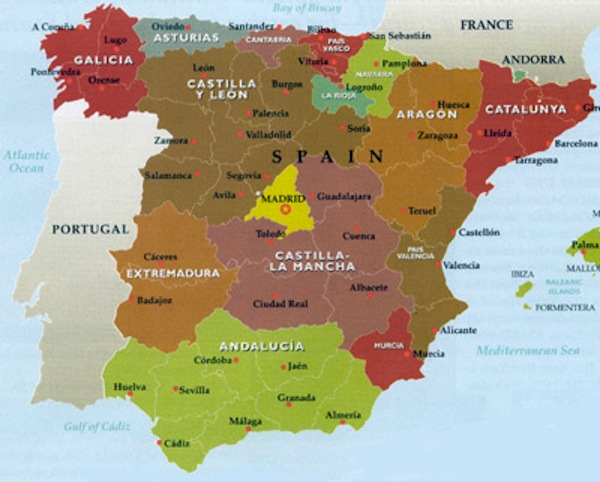 Catalonia Follow Scotland And Seek Referendum For Independence: Map Of Spain Showing Catalonia At Infoasik.co