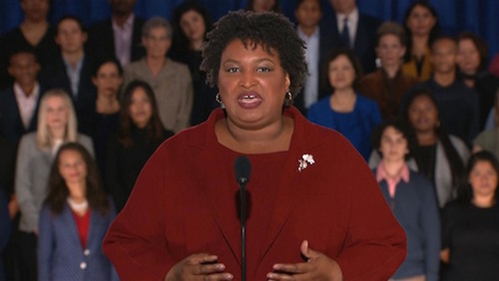 "Stacey Abrams' ""passionate future-focused"" State of the Union response ""stands in stark contrast"" with Trump's ""sack of lies"""