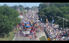 Saturday 100,000 People Watch and Take To Toronto Caribbean Camera's Virtual Road